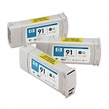 HP C9481A (91) Inkjet Cartridge; 3-Pack, Photo Black