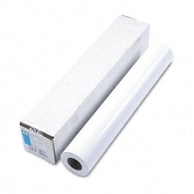 HP Large Format Gloss Paper for Inkjet Printers, 7mil, 24w x 100l Roll, White
