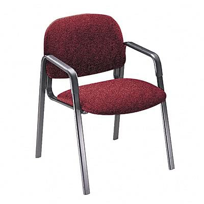 Solutions Seating Leg Base Guest Arm Chair, Olefin, Burgundy