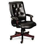 6540 Series Executive High Back Swivel Chair, Black Vinyl Upholstery