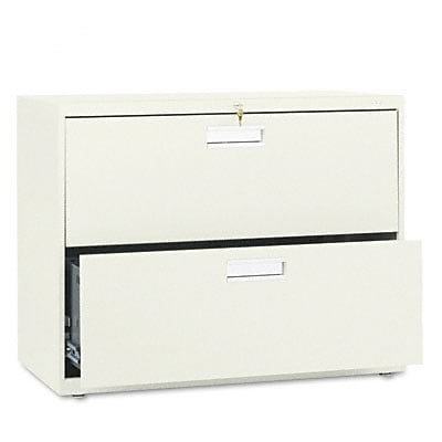600 Series Two-Drawer Lateral File, 36w x19-1/4d, Putty