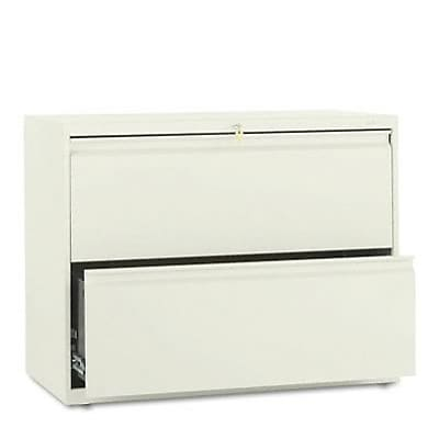 800 Series Two-Drawer Lateral File, 36w x19-1/4d, Putty