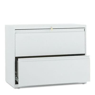 800 Series Two-Drawer Lateral File, 36w x19-1/4d, Light Gray