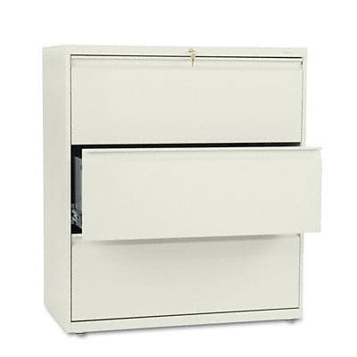 800 Series Three-Drawer Lateral File, 36w x19-1/4d, Putty