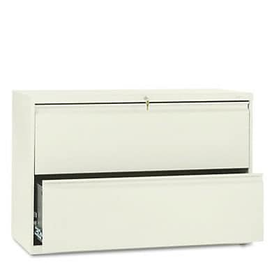 800 Series Two-Drawer Lateral File, 42w x19-1/4d, Putty