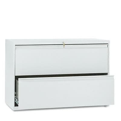 800 Series Two-Drawer Lateral File, 42w x19-1/4d, Light Gray