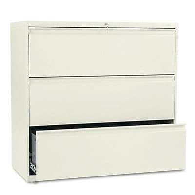 800 Series Three-Drawer Lateral File, 42w x19-1/4d, Putty