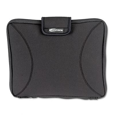 Innovera® Laptop Sleeve; Fits up to 15.5, Zippered with Handles, Black