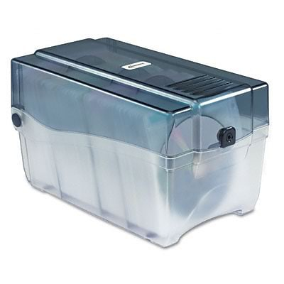 Innovera® CD/DVD Storage Case; Holds 150 Discs, Clear, Hinged Lid and Key Lock