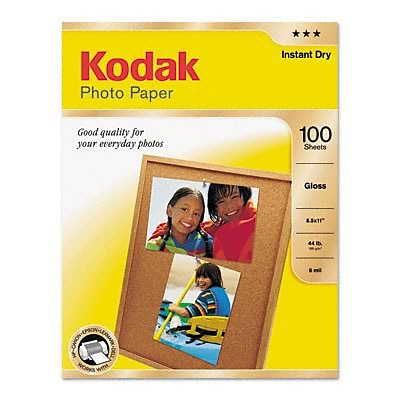 Kodak® Glossy Photo Paper; 8-1/2x11