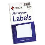 Maco™ 1-1/2x3 White Removable MP Labels
