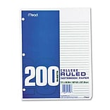 Mead® College Ruled Loose Notebook Filler Paper; Economical, 200 Sheets/Pack