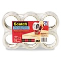 Scotch® Super Strength Packaging Tape; 1.88 x 54.6 yds, 3 Core, Clear, 6/Pack