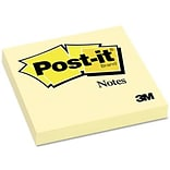 Post-It® Flat Notes in Canary Yellow; 3x3, 100 Sheets/Pad, 12 Pads/Pack