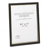 EZ Mount Document Frames, Plastic, 8-1/2 x 11, Black/Gold, 18 per Pack