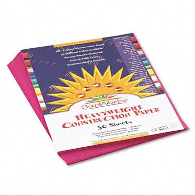 SunWorks® Construction Paper; 9x12, Magenta, 50 Sheets