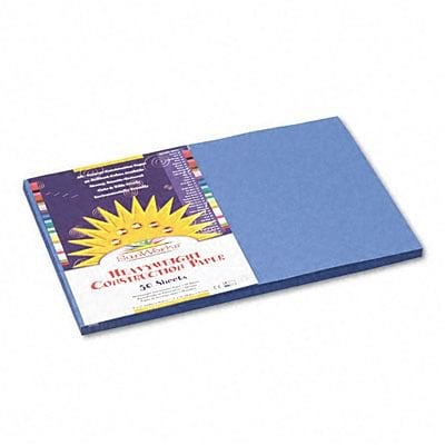 SunWorks® Construction Paper; 12x18, Blue, 50 Sheets
