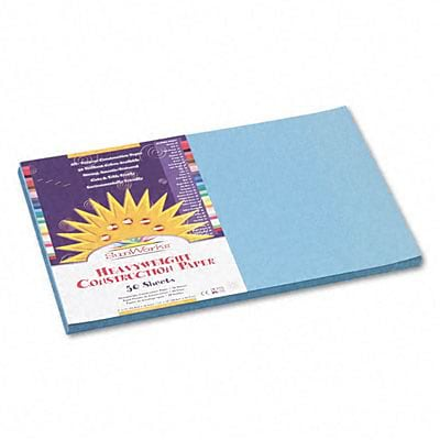 SunWorks® Construction Paper; 12x18, Sky Blue, 50 Sheets