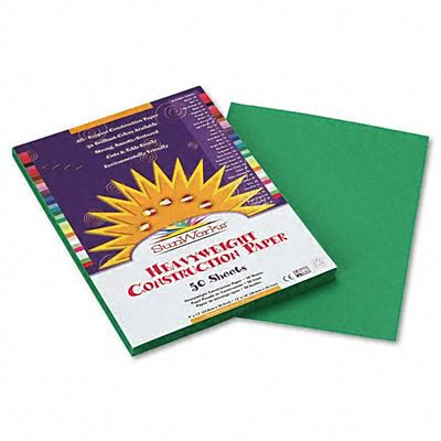 SunWorks® Construction Paper; 9x12, Holiday Green, 50 Sheets