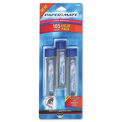Paper Mate® Automatic Pencil Lead Refills;  0.7mm, HB, Black, 3 Tubes of 35, 105/pack