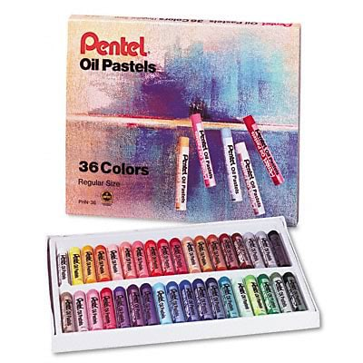 Pentel® Oil Pastels with Carrying Case; 36/Set
