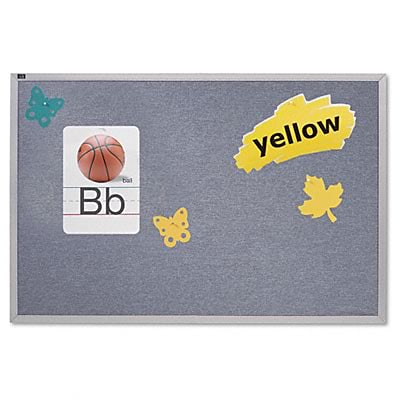 Quartet® Vinyl Bulletin Board; 48x144, Wedgewood Blue