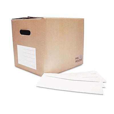 Double Window Security Tinted Invoice and Check Envelope, #8, White, 1000/Box