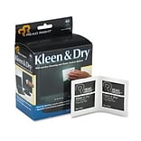 Kleen & Dry Screen Cleaner Wet Wipes, Cloth, 3-1/4 x 3-1/4, 40/box