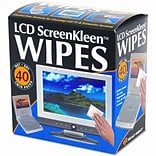 ScreenKleen Alcohol-Free Wet Wipes, Cloth, 3-1/4 x 3-1/4, 40/box