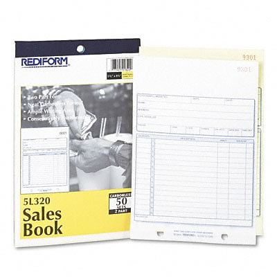Sales Form, 5-1/2 x 7-7/8, Carbonless Duplicate, 50 Sets/Book