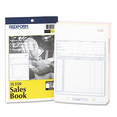 Sales Form, 5-1/2 x 7-7/8, Carbonless Triplicate, 50 Sets/Book