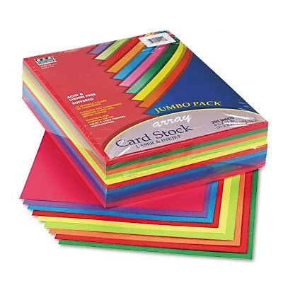 Array Card Stock, 65lb, Assorted Lively Colors, Letter, 250 Sheets per Pack