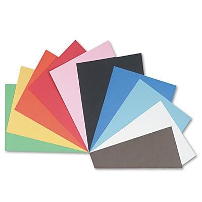 Pacon Tru-Ray Construction Paper, 76 lbs., Assorted Colors, 18 x 24, 50 Sheets/Pk