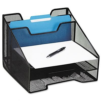 Combination sorter, 5 sections, mesh, 12 1/2 x 11 1/2 x 9 1/2, black