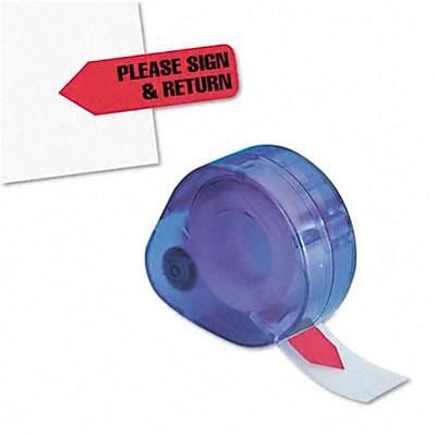 Message Arrow Flag Refills, Please Sign & Return, Red, Six Rolls of 120 Flags