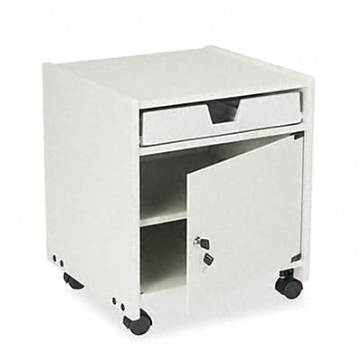 Office Machine Mobile Stand w/Locking Cabinet, 19w x 18-1/4d x 22-3/8h, GY