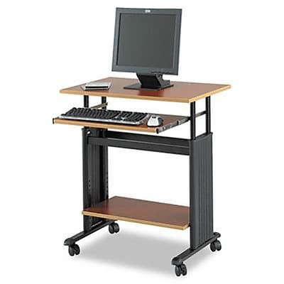 28 Wide Adjustable Height Workstation, 19-3/4d x 29-33h, Cherry Laminate