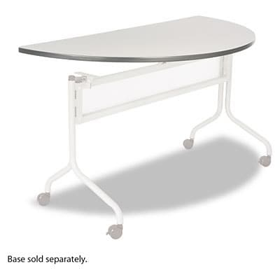 Impromptu Mobile Training Table Top, Half Round, 48w x 24d, Gray