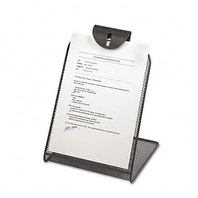 Onyx Mesh Copyholder With Steel Ball Fastener, Black