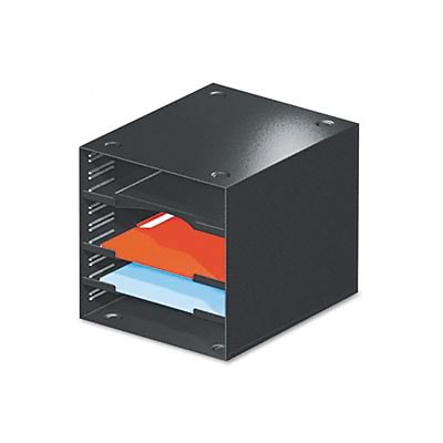 Safco® Steel Desktop Sorters;  4 Compartments, Steel, 11 x 12 x 10, Black