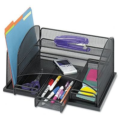 Three-drawer organizer, steel, 15 7/8 x 11 3/8 x 8