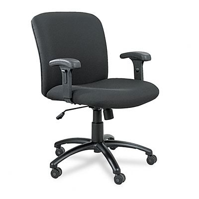 Chair, Mid-Back, Big And Tall, Black