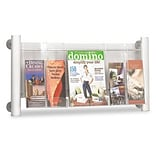 Safco® Luxe Magazine Rack; Three-Pocket, Silver
