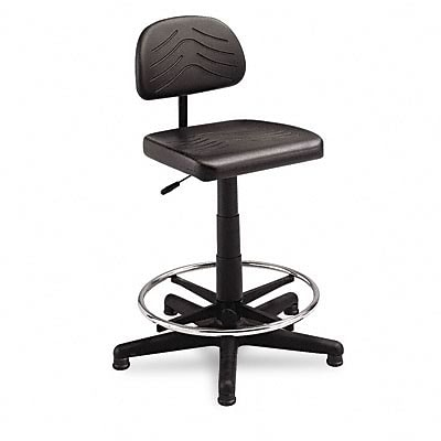 TaskMaster EconoMahogany WorkBench Chair, Black