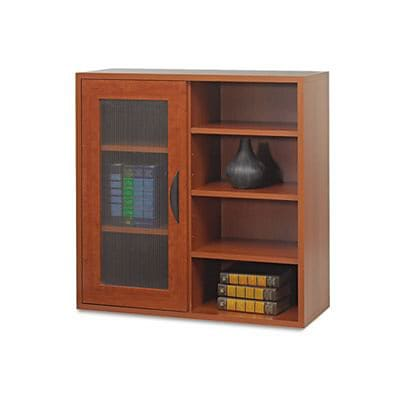 Safco® Après Modular Storage; Single Door Cabinet w/Shelves, 30Hx30Wx12D, Cherry