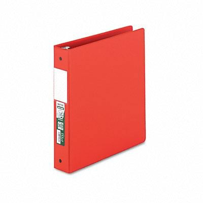 Samsill® Antimicrobial Locking Round Ring Binder, 8-1/2 x 11, 1-1/2in Cap, Red