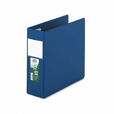 Samsill® Antimicrobial Locking Round Ring Binder; 8-1/2 x 11, 4in Cap, Dark Blue