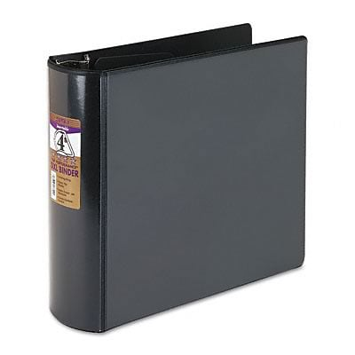 Samsill® Top Performance DXL Reference 4 D-Ring Binder; View, Black, 3-Ring