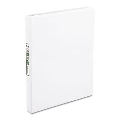 Samsill® Clean Touch Antimicrobial 1/2 Round Ring Binder; View, White, 3-Ring