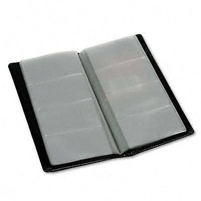 Regal Leather Business Card Binder Holds 96 2 x 3-1/2 Cards, Black